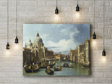 Canaletto: The Entrance to the Grand Canal, Venice. Fine Art Canvas.